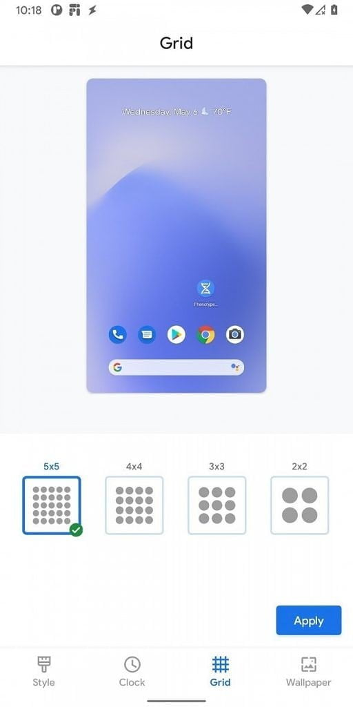 Android 11 Pixel Launcher Grid Customization 512x1024 1