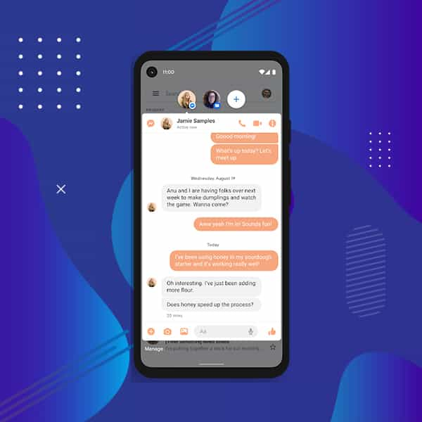 android chat bubbles