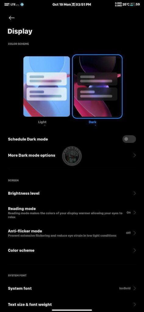 miui12 screen dark mod