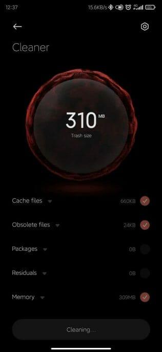 miui 12.5 clean interface